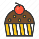 bakery, cake, chocolate, cupcake, dessert, muffin, sweets icon