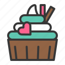 baked, bakery, cake, cupcake, dessert, muffin, sweets, valentine icon