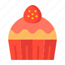 cake, cupcake, dessert, muffin, strawberry, sweets, valentine icon