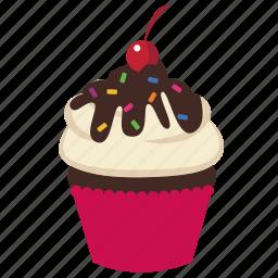 birthday, cupcake, dessert, food, frosting, muffin, sweet icon