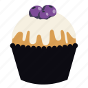 birthday, cupcake, dessert, food, frosting, muffin, sweet icon