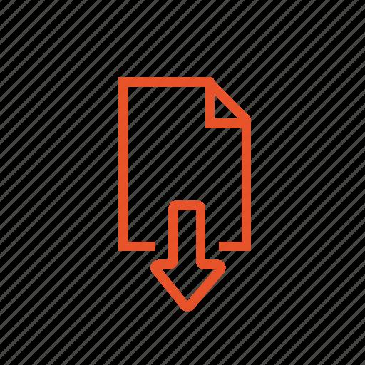 add, arrow, down, download, follow, low icon