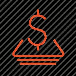 cash, credit, dividend, investment, money, payment, profit icon