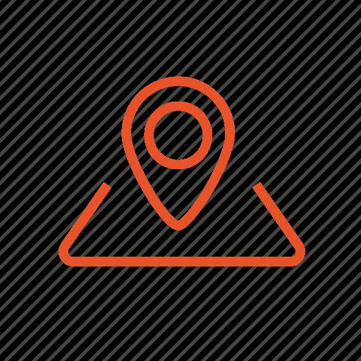 destination, location, map, mark, navigator, route icon