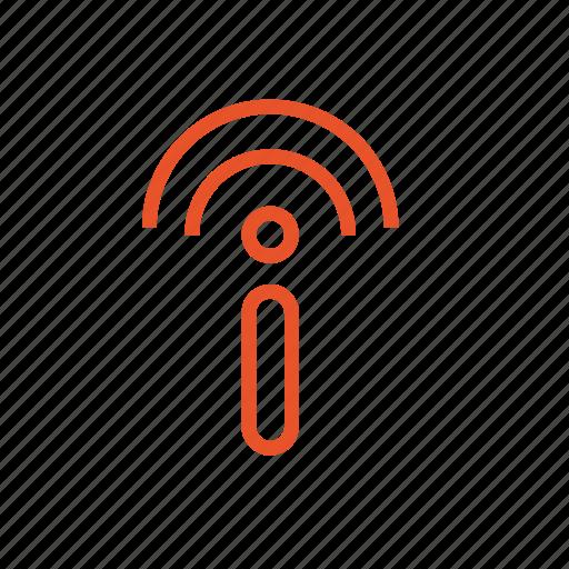 connection, link, network, radio, sound, volume, wi fi icon