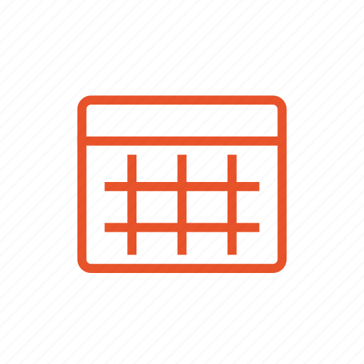 calendar, date, notebook, planner, table, timetable icon