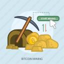 bitcoin mining, business, concept, currencies, cursor, finance, money