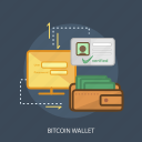 bitcoin wallet, business, concept, currencies, finance, login, money icon