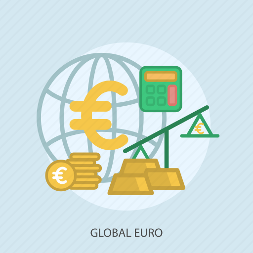 business, calculator, concept, currencies, finance, global euro, money icon