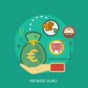 business, concept, currencies, finance, money, payment euro, saving icon