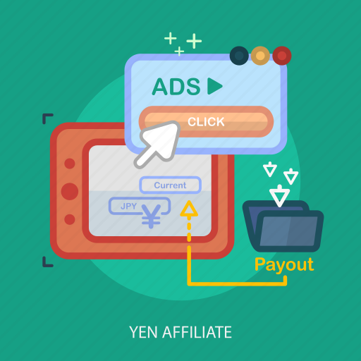 business, concept, currencies, finance, money, payout, yen affiliate icon