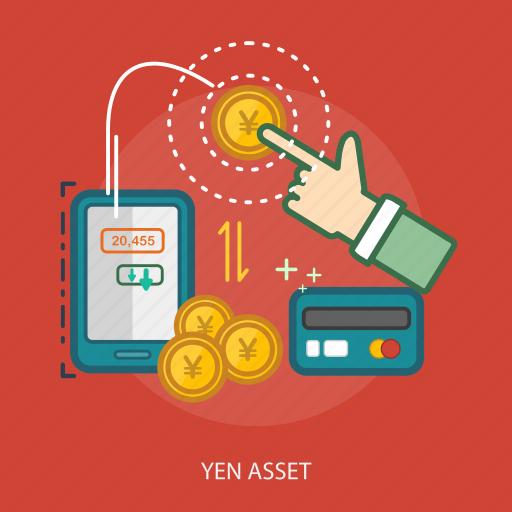 business, concept, credit card, currencies, finance, money, yen asset icon