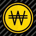 krw, won, south, korea, money, currency