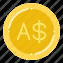 australian, currency, dollar, exchange, money icon