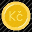 currency, czech, exchange, koruna, money icon