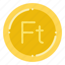 currency, exchange, forint, hungarian, money icon