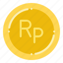 currency, exchange, indonesian, money, rupiah icon