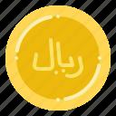 currency, exchange, money, riya, saudi icon
