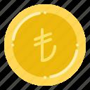 currency, exchange, lira, money, turkish icon