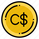 canadian, currency, dollar, exchange, money icon