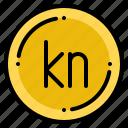 croatia, currency, exchange, kuna, money icon
