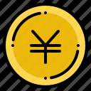 currency, exchange, japanese, money, yen icon