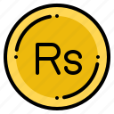 currency, exchange, money, nepalese, rupee icon