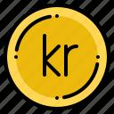 currency, exchange, krone, money, norwegian icon