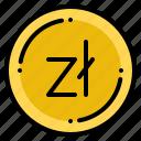 currency, exchange, money, polish, zloty icon