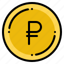 currency, exchange, money, ruble, russian icon