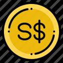 currency, dollar, exchange, money, singapore icon