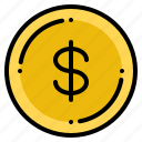 currency, dollar, exchange, money, us icon