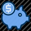 coin, money, piggy, saving