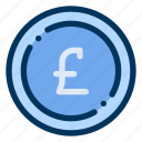 coin, currency, money, pound, sterling icon