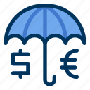 currency, protection, insurance, money icon