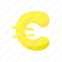 banking, cartoon, cash, currency, euro, finance, money icon