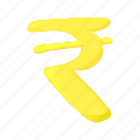 banking, cartoon, cash, currency, finance, money, rupee icon