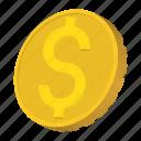 america, cartoon, coin, currency, dollar, finance, gold