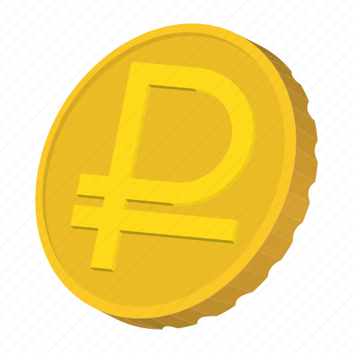 cartoon, coin, currency, finance, gold, ruble, russia icon