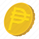 cartoon, coin, currency, finance, gold, peso, wealth icon