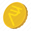 cartoon, coin, currency, finance, gold, india, rupee icon