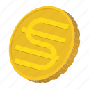 cartoon, coin, currency, finance, gold, hryvnia, ukraine icon
