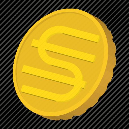 cartoon, coin, currency, finance, gold, hryvnia, ukraine icon