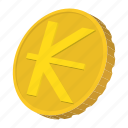 coin, currency, gold, kip, laos, mongolia, tugrik icon