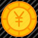 yen, coin, currency, money, cash