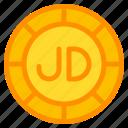 jordanian, dinar, coin, currency, money, cash