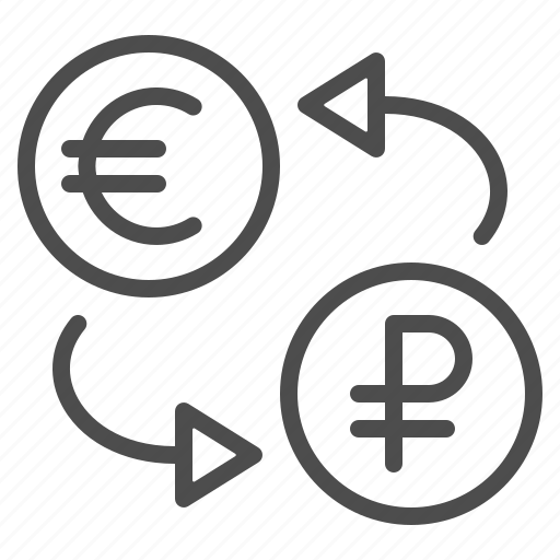 conversion, currency, euro, exchange rate, finance, rouble, ruble icon