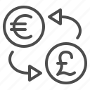 conversion, currency, euro, exchange rate, money, pound, pound sterling icon