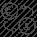 conversion, currency, euro, exchange rate, yen, yuan