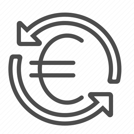 arrows, conversion, currency, euro, exchange rate, transaction icon